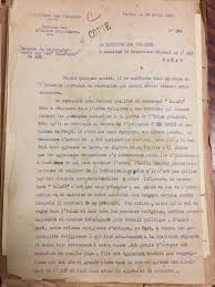 Letter From French Government Official In 1928 Questioning Leftist