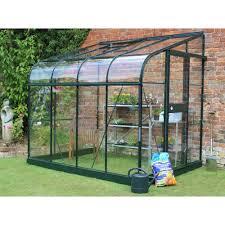 serre de jardin adossée silverline 4 8 m verre trempé halls