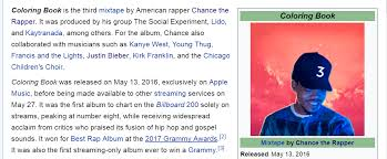 Angels The Lead Single Off Of His Mixtape Coloring Book Notice It Was Released On May 13th Album Also Referred To As Chance Three90 Anyway
