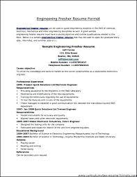 Fresher Resume Template Pdf Mechanical Engineering Templates Nice Format Engineer