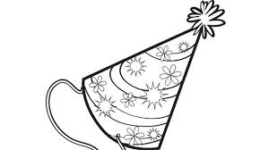 No Birthday Party Is Complete Without A Hat Your Grandkids Will Love Coloring This Beautiful Page