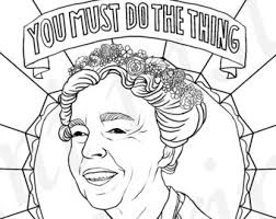 Eleanor Roosevelt Portraits Coloring Pages For Adults Colouring PDF Printable
