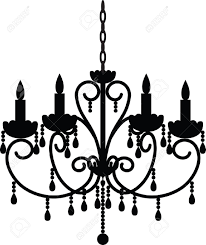 Black Chandelier Clipart