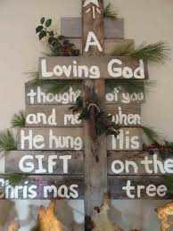 Sign Lights Onfinished Sponge Painted Pallet Christmas Tree Paper Crafts With Ornaments Red