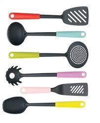 set ustensiles de cuisine brabantia set d ustensiles de cuisine 6 pièces tasty colours