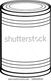 tin can clipart black and white 4