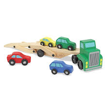100 Melissa And Doug Trucks Amazoncom Car Carrier Truck Cars Wooden Toy Set