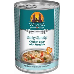 Weruva Grain-Free Canned Dog Food - Funky Chunky Chicken Soup, 14oz, x12