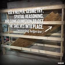 Wood Shelves Diy by Diy 2x4 Shelving For Garage Or Basement Dadand Com Dadand Com