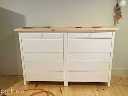 Hemnes 6 Drawer Dresser Hack by Ikea Hack Built In Ikea Hemnes Wardrobe Dresser Picklee