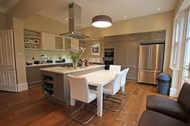 This Truly Expansive Open Plan Kitchen Includes A Large Rustic Wood