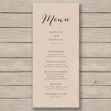 Rustic Wedding Menu Template
