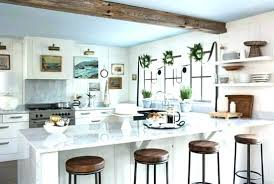 Farmhouse Style Kitchen Cabinets Modern Design With Marble Island And Metal Cabinet Hardware