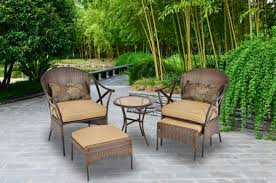 Patio Furniture With Hidden Ottoman by Patio Chair With Hidden Ottoman With Tan Color