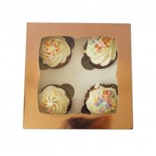 Luxury Satin Rose Gold Cupcake Box New Choose A Size