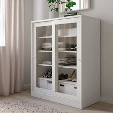 syvde cabinet with glass doors white ikea