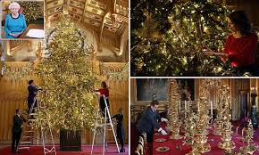 Queen Has 20ft Christmas Tree Erected At Windsor Castle