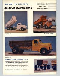 100 Smith Miller Trucks 1954 PAPER AD 4 PG Toy PIE Tractor Trailer