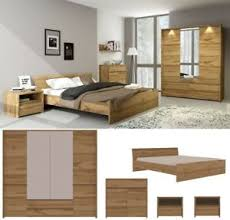 details zu schlafzimmer komplett set forest bett 160 180 x 200 schrank 3t 4t kommode 2nakos