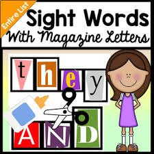 Sight Word Centers with Cutting Out Magazine Letters 220 Words }