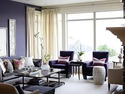 purple living room blue bed on white platform completed