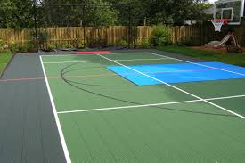Athletic Courts And Fields - Neave Landscaping Multisport Backyard Court System Synlawn Photo Gallery Basketball Surfaces Las Vegas Nv Bench At Base Of Court Outside Transformation In The Name Sketball How To Make A Diy Triyaecom Asphalt In Various Design Home Southern California Dimeions Design And Ideas House Bar And Grill College Park Half With Hill