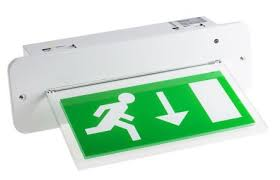 rs pro led emergency exit sign 3h maintained arrow graphic