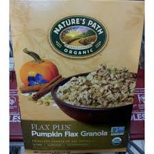 Pumpkin Flaxseed Granola Nutrition Info by Top 50 Most Popular Granola Cereal