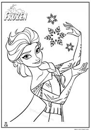 Frozen Free Coloring Pages Elsa Let It Go