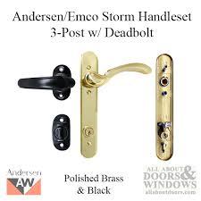 Emco Keyed 3 Post Storm Door Hardware w Deadbolt for 1 1 2 Inch