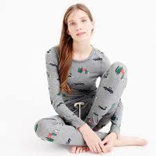 j crew cotton yeti pajama set lyst