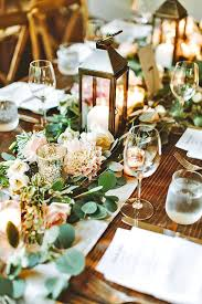 Rustic Wedding Decorations Enchanting Table For Centerpiece Ideas With