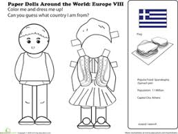 Series Of Paper Dolls Around The World Has Country Info With Doll And Traditional