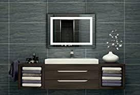badezimmerspiegel mit beleuchtung led spiegel 65x50 cm