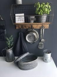 küchenregal gewürzregal wandregal holz metall gitter vintage
