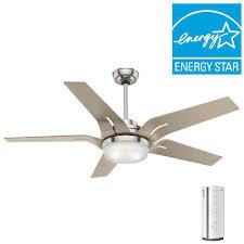 casablanca correne 56 in led indoor brushed nickel ceiling fan
