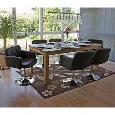 esszimmerstuhl orlando küchenstuhl drehstuhl stuhl kunstleder chrom braun