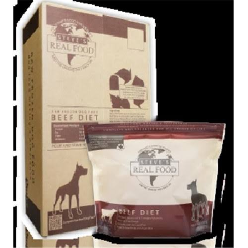 Steves Real Food 84512113B 9.75 lbs Beef Nuggets Dog Food