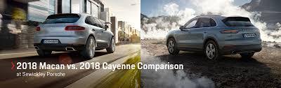 100 Porsche Truck Price 2018 Macan Vs 2018 Cayenne Comparison Sewickley