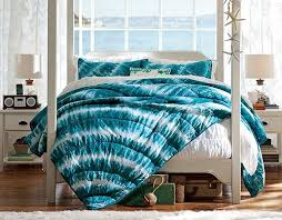 girls bedroom ideas using blue tie dye bedding crafts and