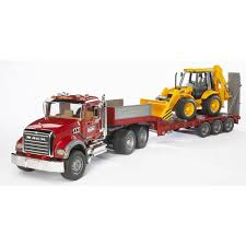 Bruder MACK Granite Low Loader Kids Play Toy Truck W JCB Backhoe ... Bruder Cat Asphalt Compactor Mountain Baby Other Toys Driven Mini Logging Truck Model Vehicle For Sale In Scania R Series Timber And Crane Jadrem Find More At Up To 90 Off Mack Truk Liebherr Group Dump Truck 861125 116th Tg 410a Wcrane 3 Logs By Rseries With Loading Crane And Man With Loading Trunks Ebay Mb Arocs Cement Mixer Mixers Products Granite Toy Mighty Ape Australia