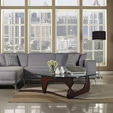 Eames Compact Sofa Craigslist by Amazon Com Modway Triangle Coffee Table In Dark Walnut Kitchen