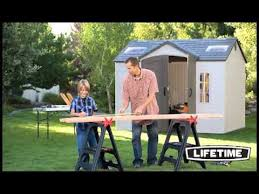 lifetime 10x8 side entry storage shed 60020 youtube