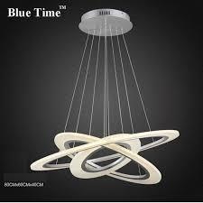 30m 50cm 70cm sliver chandeliers led circle modern chandelier