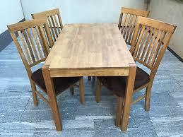 royal oak tisch mit 4 stühlen eiche geölt dänisches
