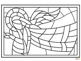 Catholic Stained Glass Window Coloring Pages Printable Images R Free