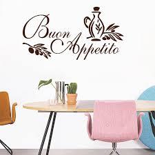 wandkunst aufkleber italienische zitieren küche aufkleber gruß mahlzeit vinyl esszimmer wandaufkleber steuern dekor
