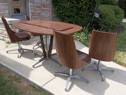 Chromcraft Mid Century Dining Room Kitchen Table Set With 4 Chairs ... Hanover Traditions 5piece Alinum Outdoor Ding Set With Swivel Chairs With Casters A R T Valencia Castered Chair In Indoor Chromcraft Kitchen Revington Table Amazoncom Morocco Square And Four On Wheels Tvdesignorg Astounding Value City Fniture Room Cool Haddie 8 Cancupinfo Mesmerizing Cheap Dinette Sets Immaculate Lowes Sling Covers Six Patio Cushion Tilt Coaster Mitchelloak 5 Piece 3in1 Game Alkar Billiards