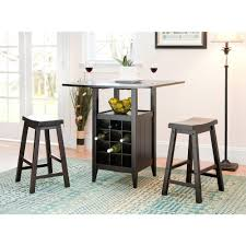 Emeric 3-Piece Espresso Bar Table Set | Products | Bar Table ...