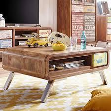 wohnzimmertisch rechteckig massivholz braun tisch wohnzimmer